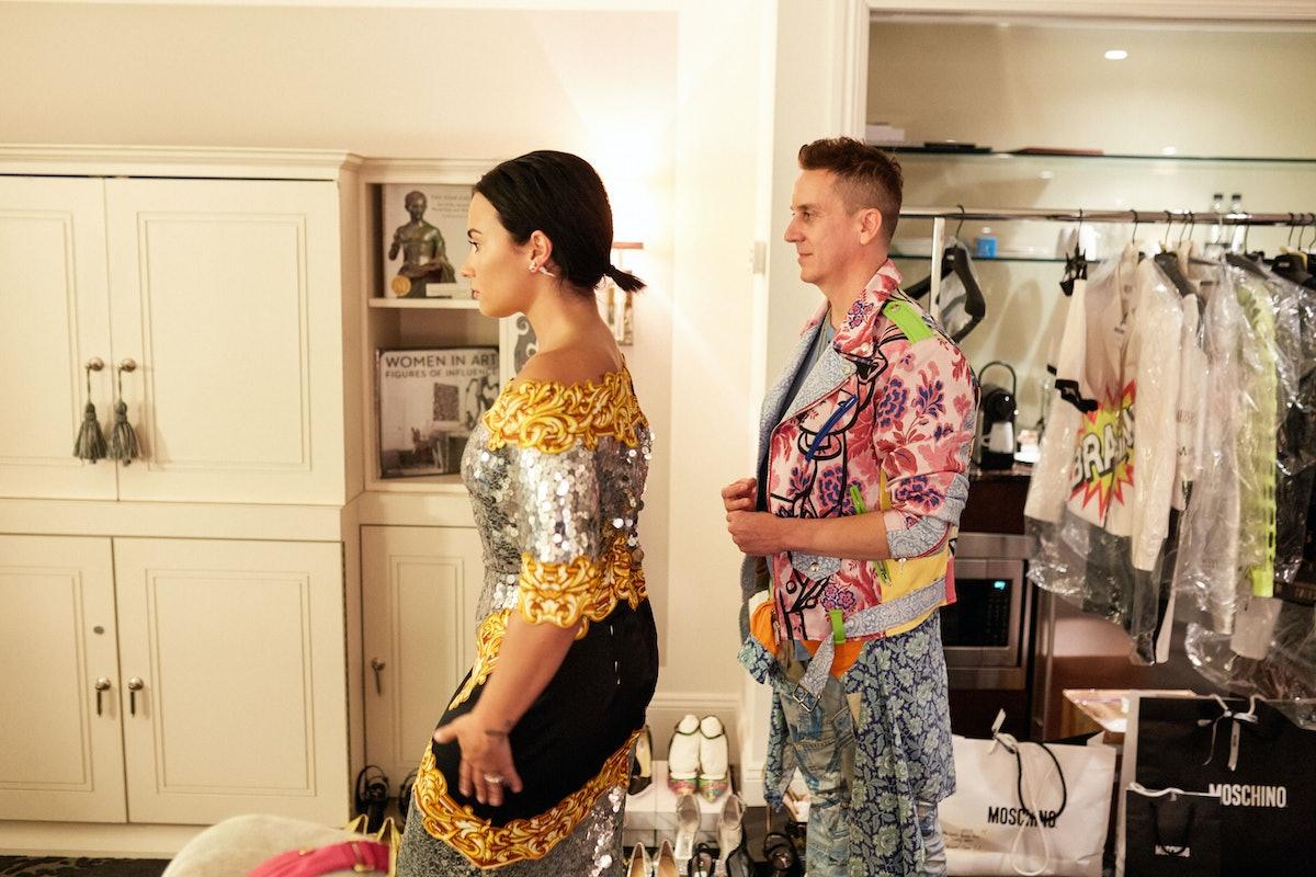 Demi Lovato/Jeremy Scott Fitting