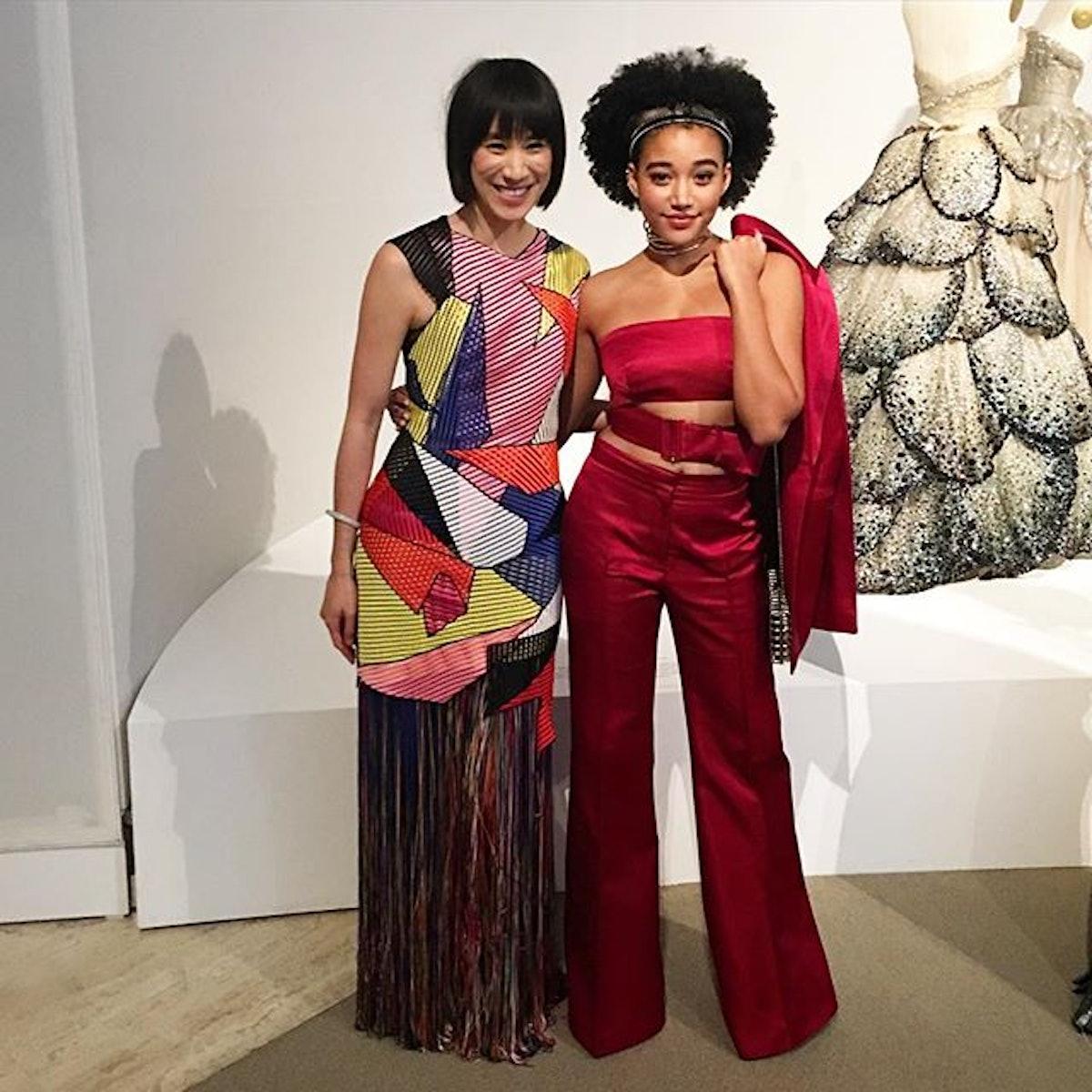 Eva Chen and Amandla Stenberg