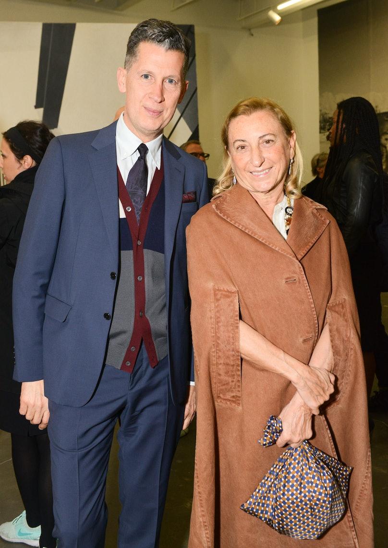 Stefano Tonchi and Miuccia Prada