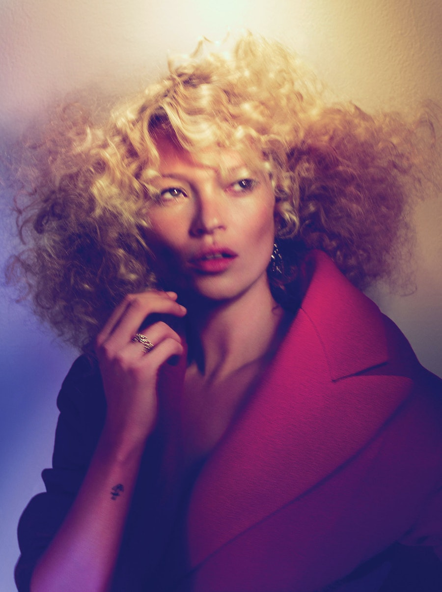 Kate Moss Curly Hair