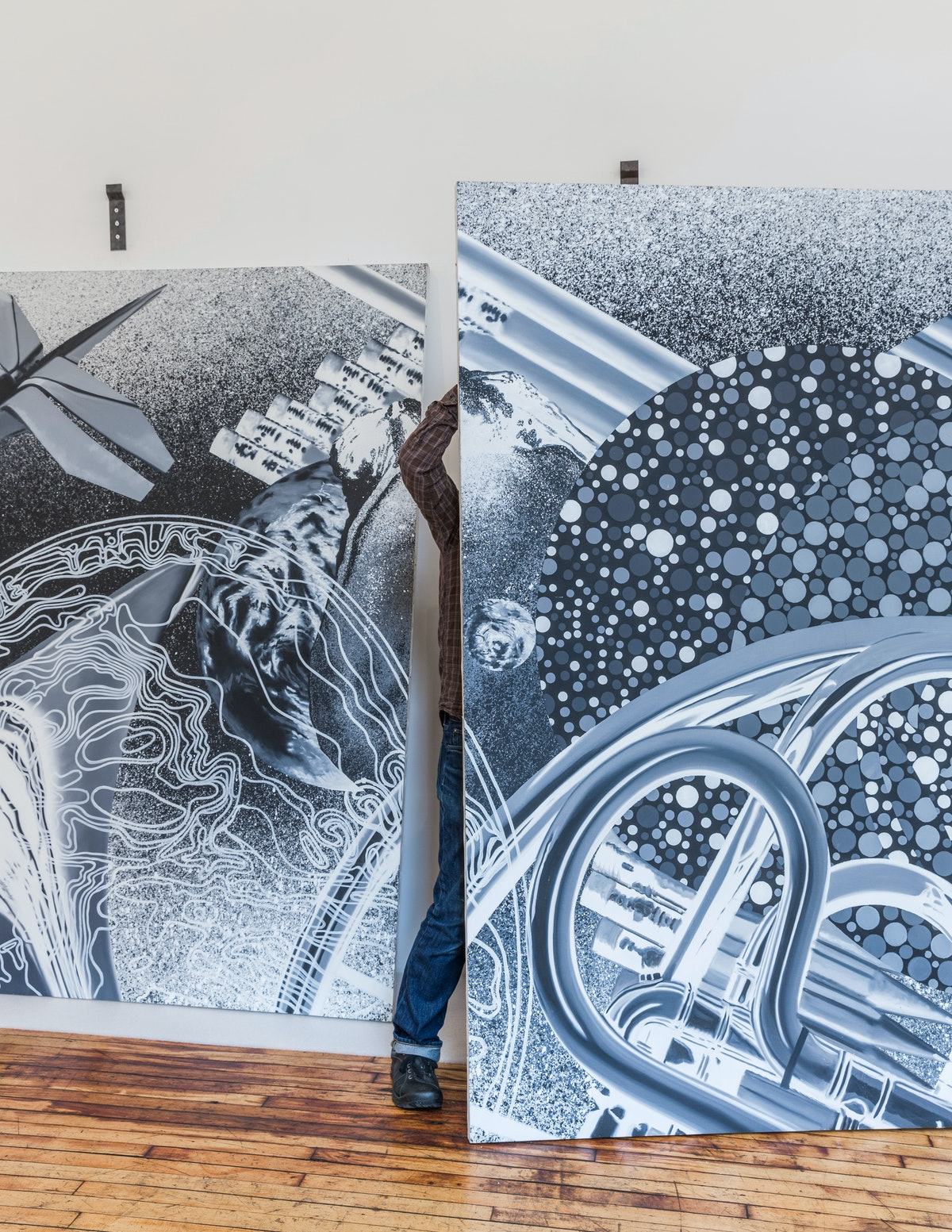 James Rosenquist Exhibition at the Judd Foundation.