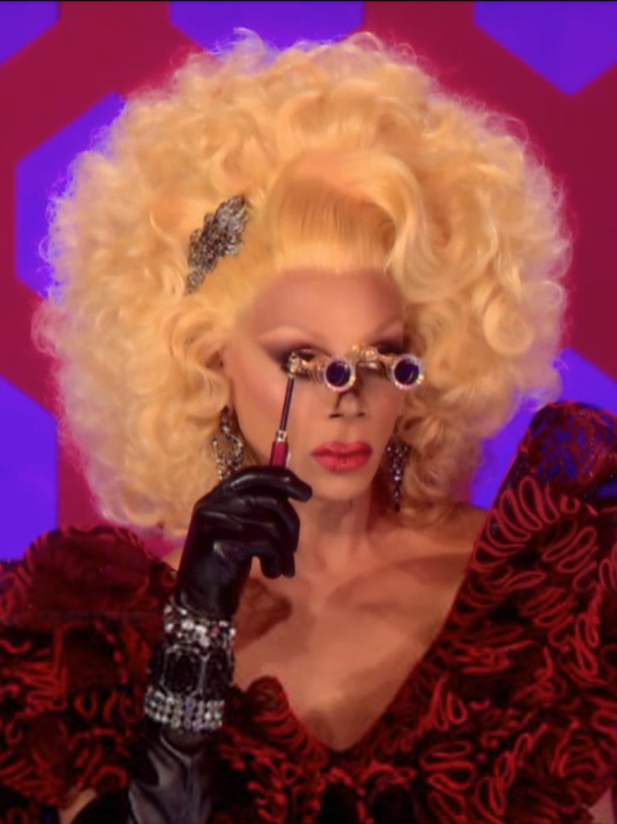 RuPaul from RuPaul's Drag Race.