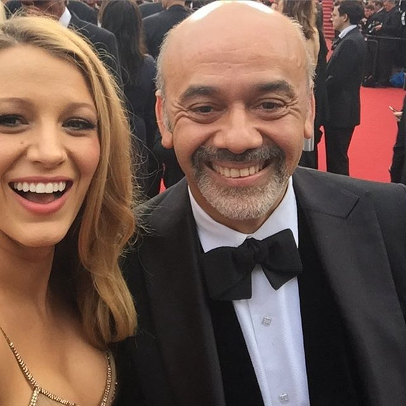 Blake Lively and Christian Louboutin