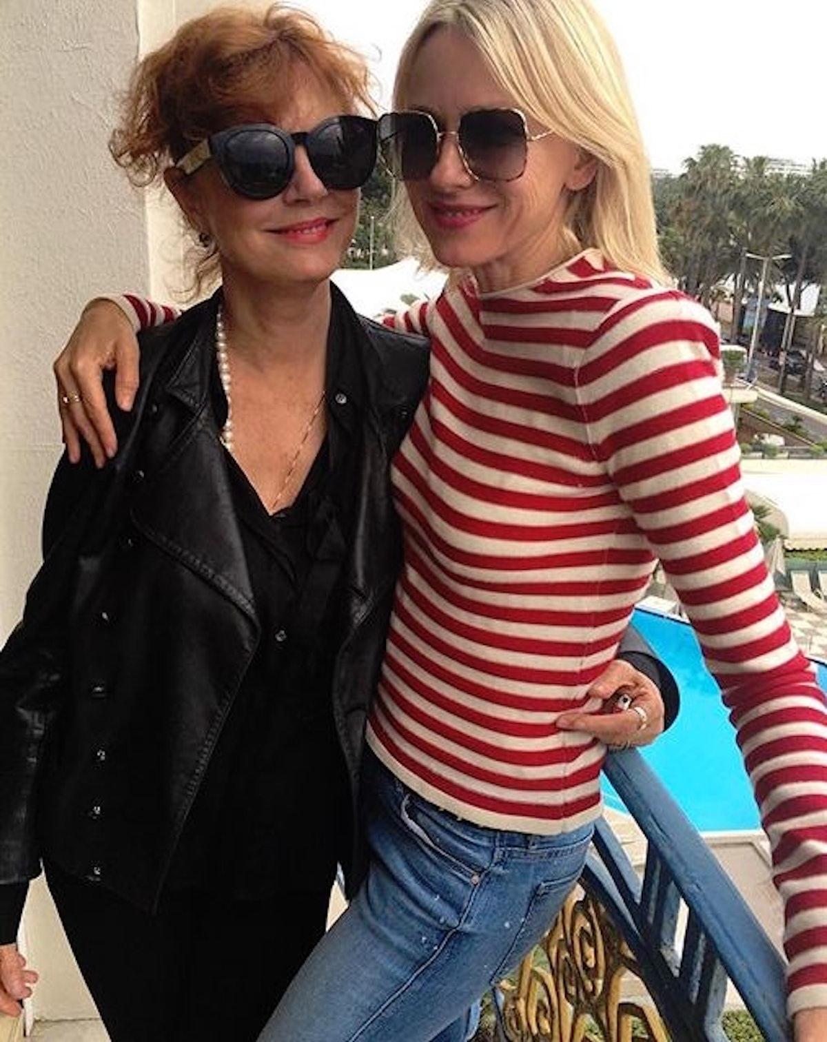 Susan Sarandon and Naomi Watts