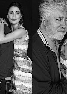 Pedro Almodovar and Adriana Ugarte