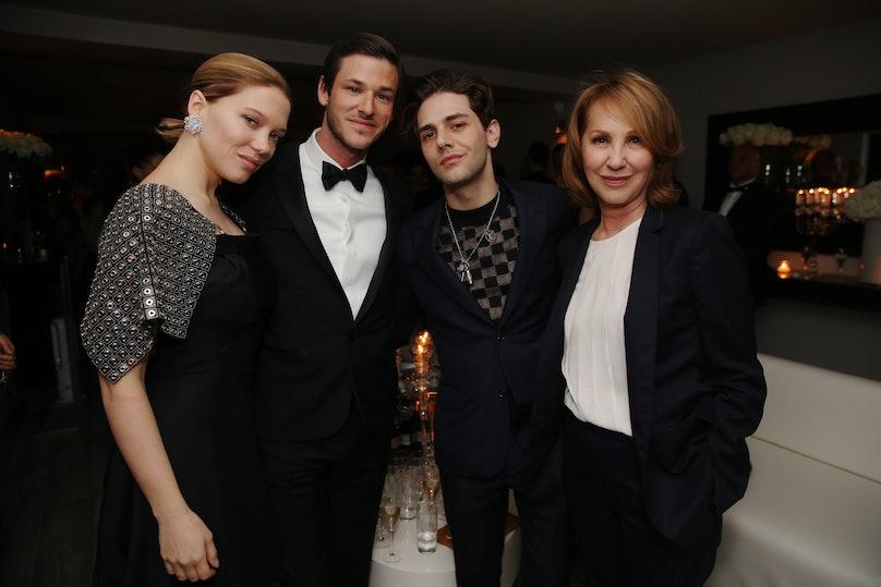 Lea Seydoux, Gaspard Ulliel, Xavier Dolan, and Nathalie Baye
