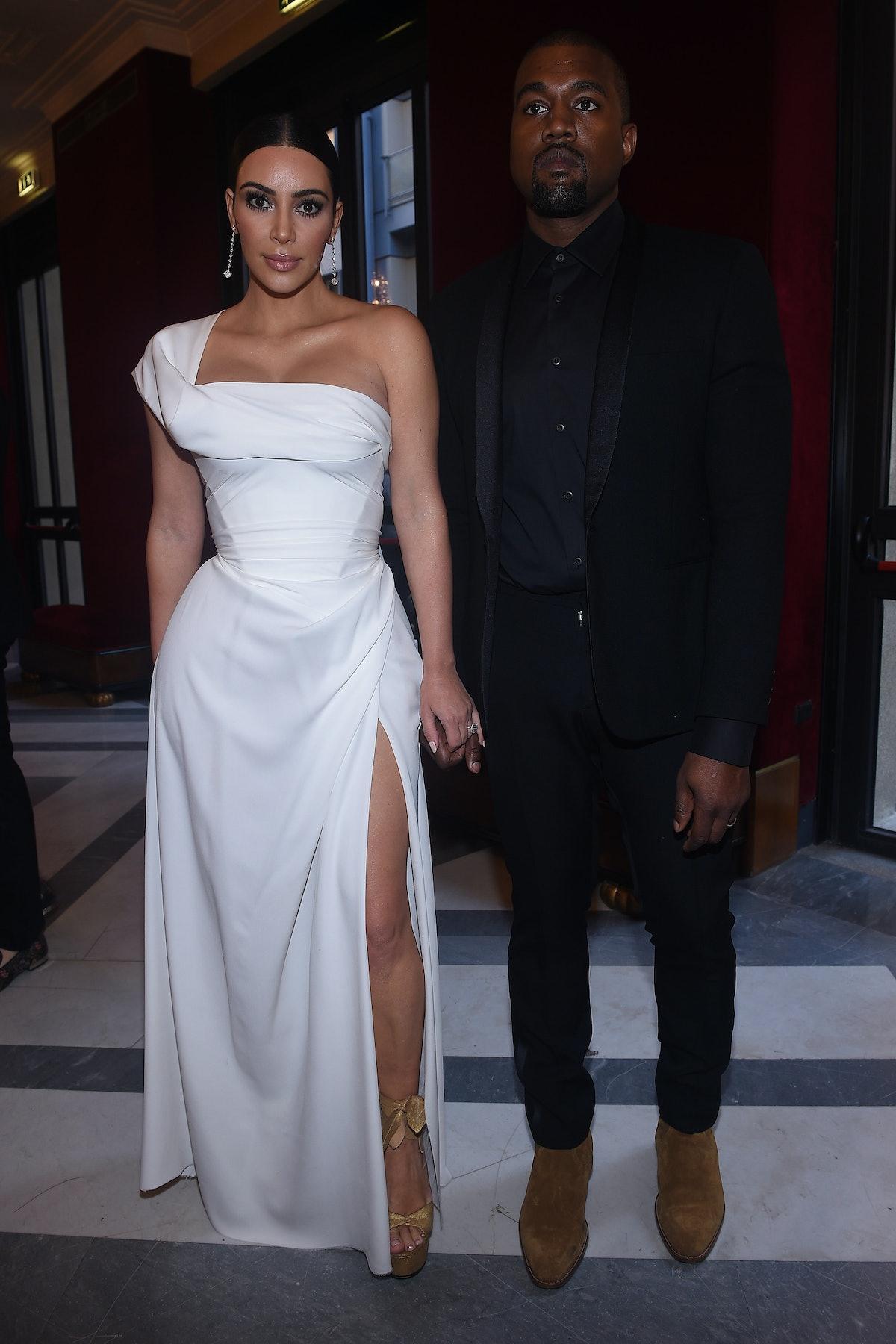 Kim Kardashian West and Kanye West.