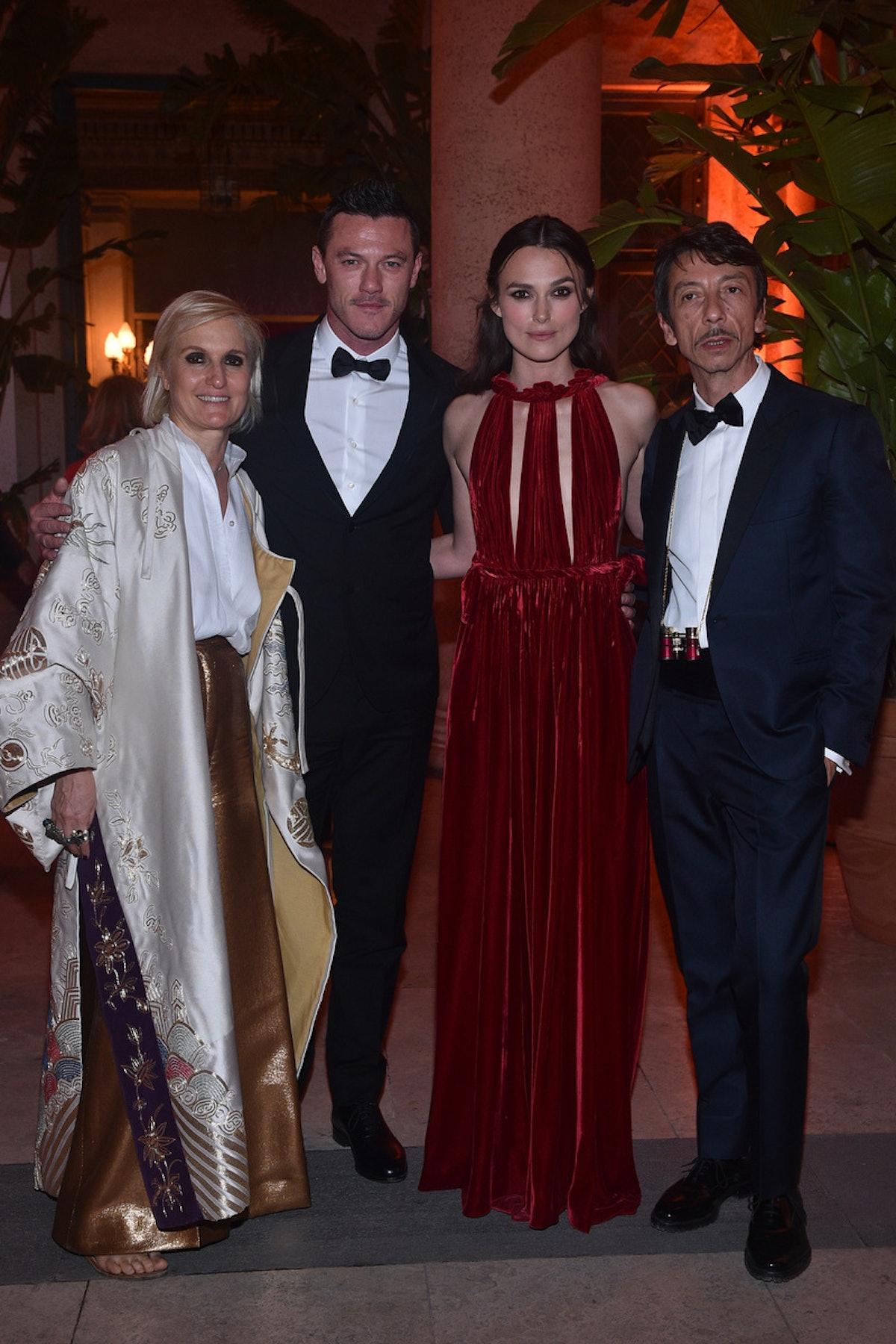 Maria Grazia Chiuri;Luke evans;Keira Knightely;Pier Paolo Piccioli