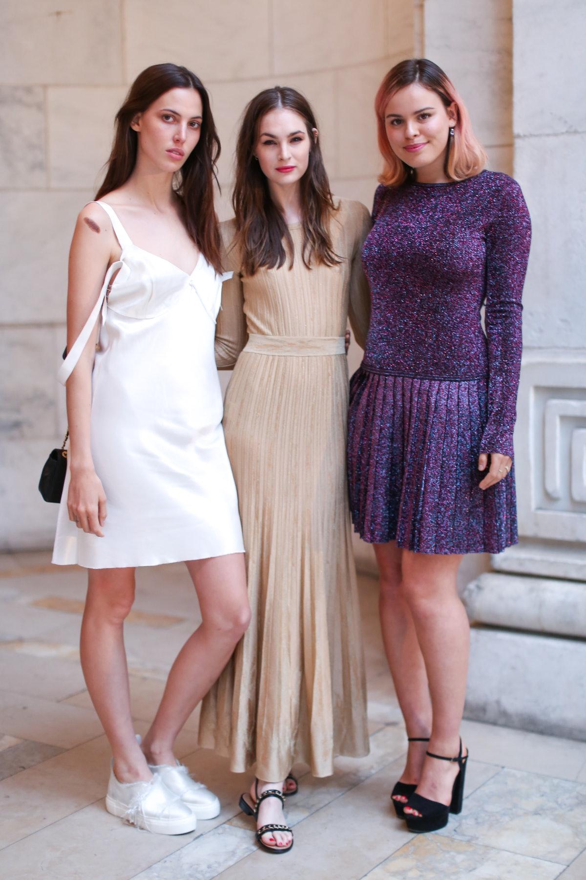 Lily Aldridge, Laura Love, and Atlanta de Cadenet Taylor
