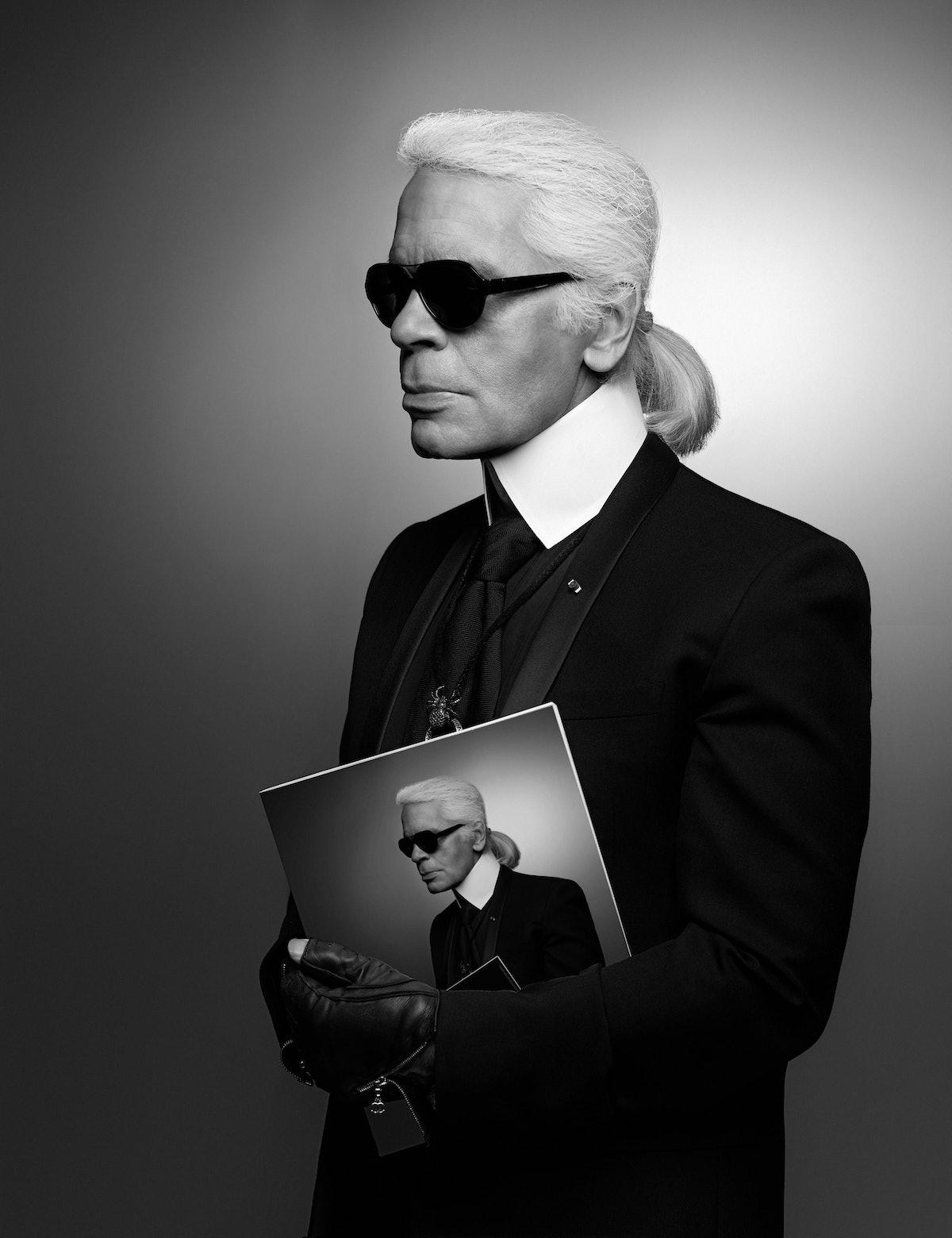 Karl Lagerfeld at Pitti Uomo