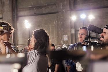 Backstage at Raf Simons, Pitti Uomo
