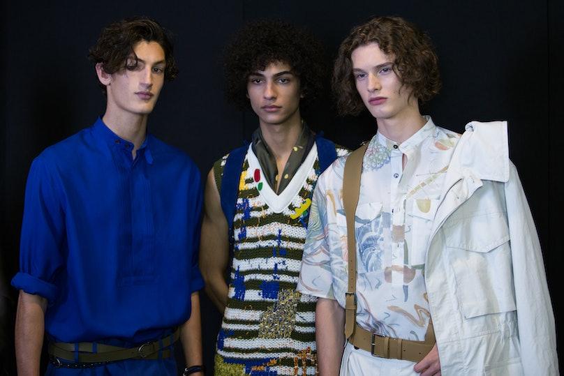 Salvatore Ferragamo Menswear Backstage Spring 2017