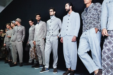 Giorgio Armani Milan Men's Fashion Week Spring 2017