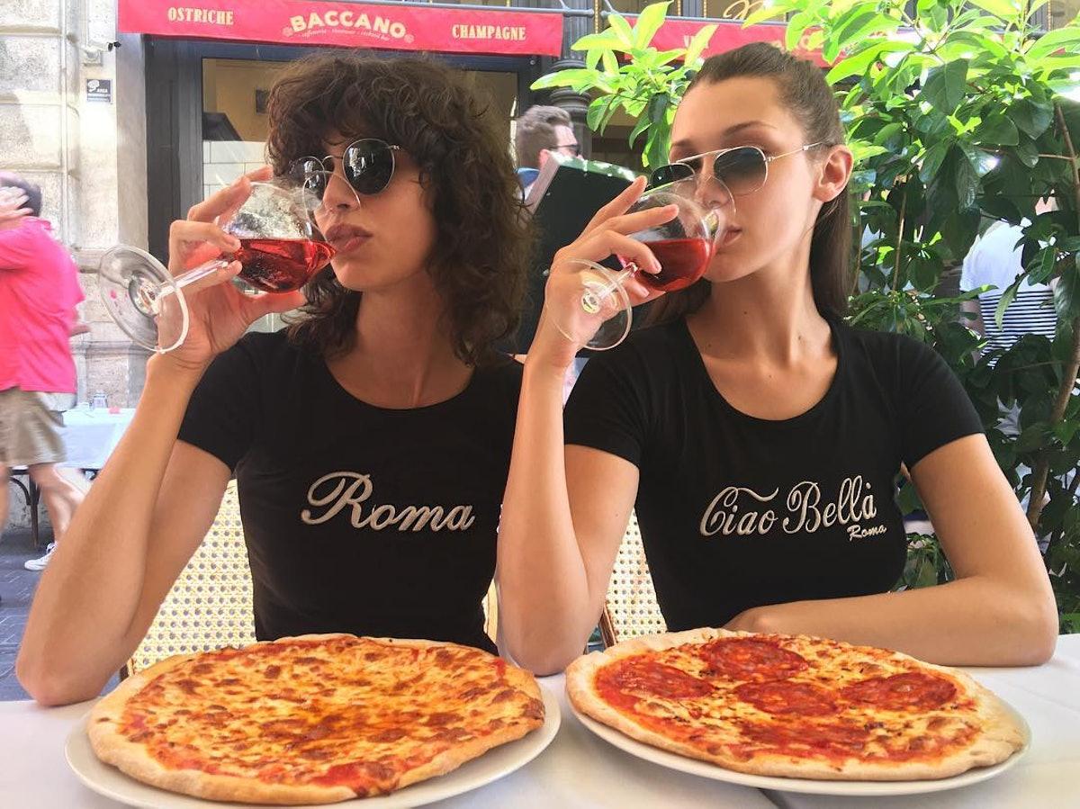 Mica Arganaraz and Bella Hadid