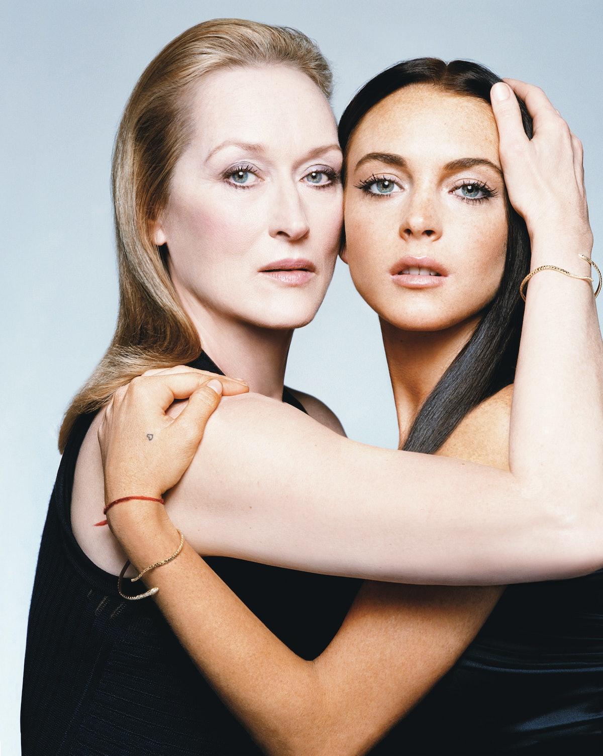 Meryl Streep and Lindsey Lohan