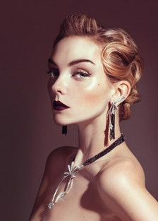 Chanel Fine Jewelry 18k white gold and black and white diamond earrings and necklace. Beauty note: C...