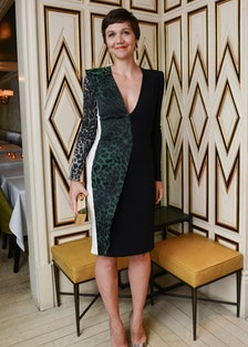Maggie Gyllenhaal in Roland Mouret Fall 2013
