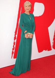 Helen Mirren Teal Dress