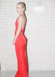 Iggy-Azalea-red-cavalli-dress