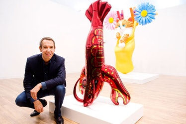 Jeff Koons and lobster