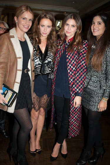Dasha Zhukova (second from right) and friends at a dinner celebrating Cyprien Gaillard