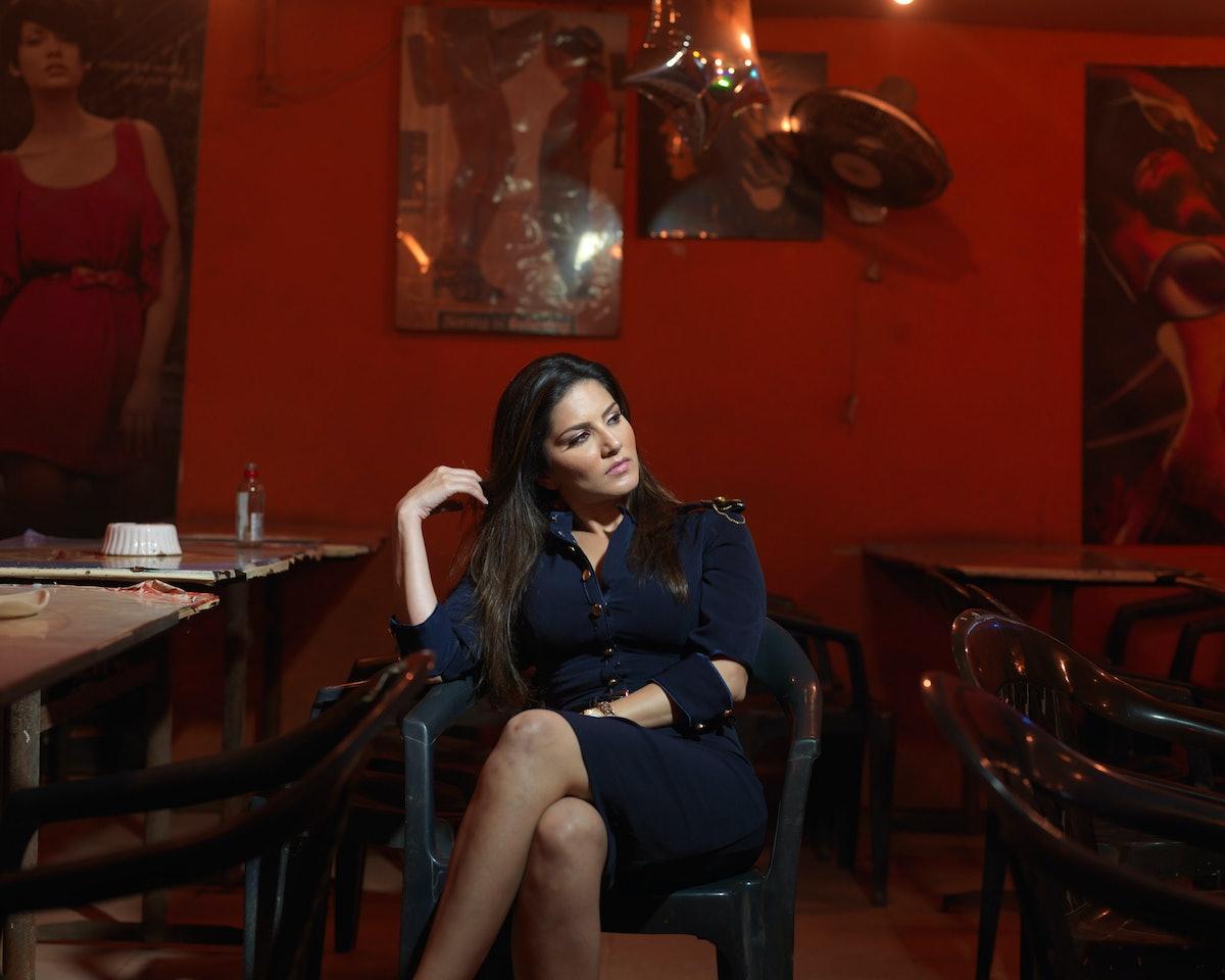 Job_7007The actress Sunny Leone in Goa.
