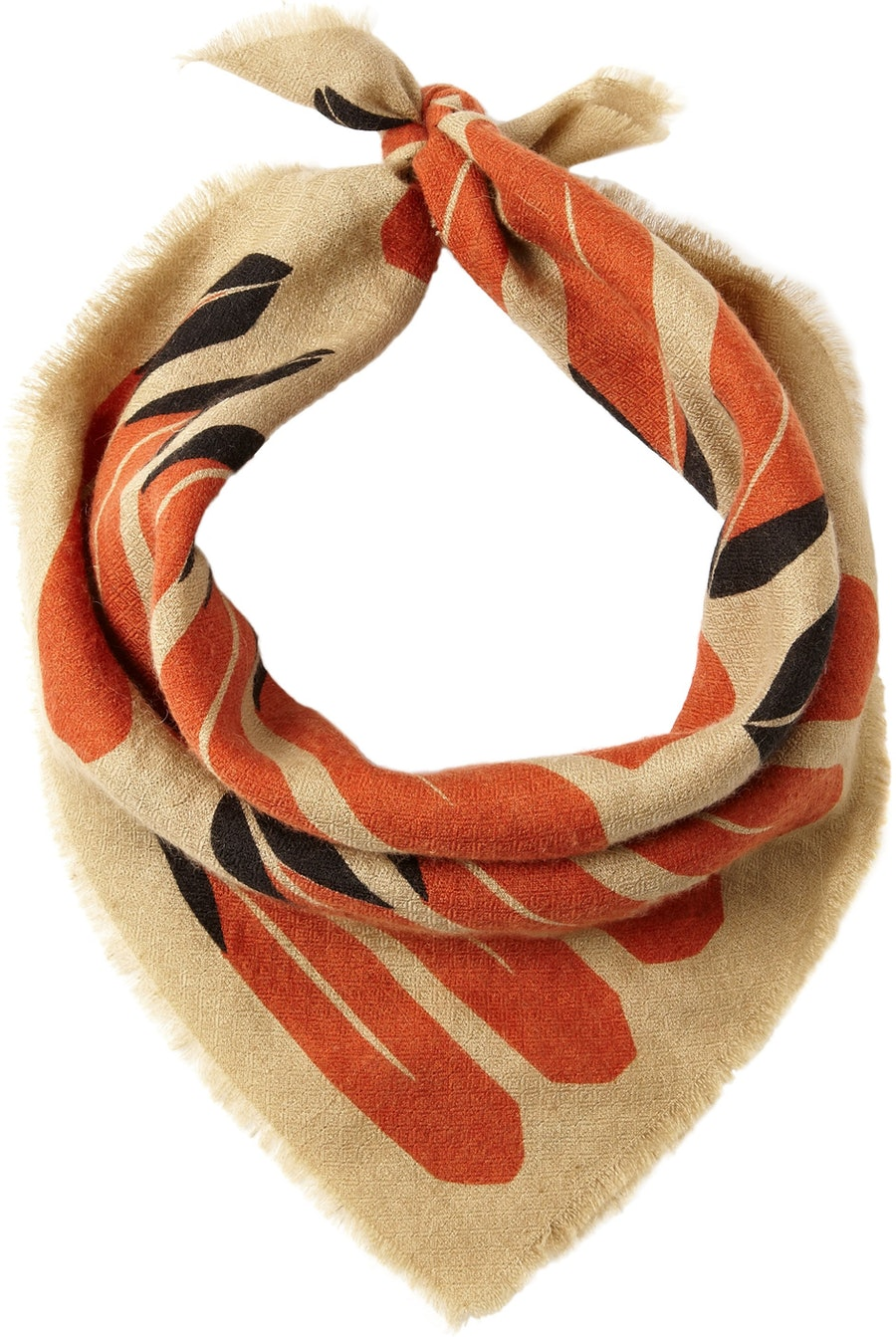 The Elder Statesman feather scarf, $235; netaporter.com and lacmastore.org
