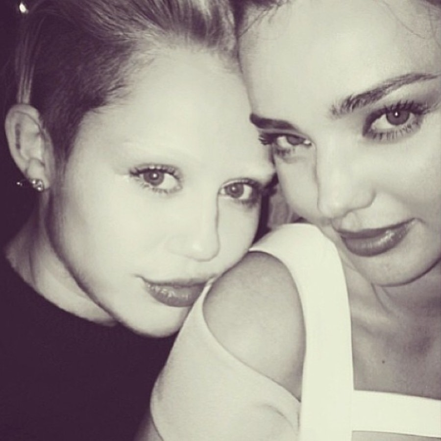 Miley Cyrus and Miranda Kerr. Photo courtesy of Instagram.