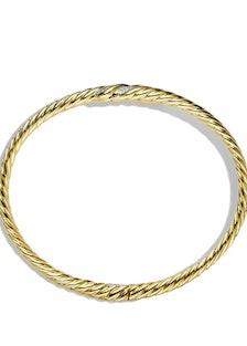 Willow single-row bypass bracelet with diamonds, $5,900; davidyurman.com
