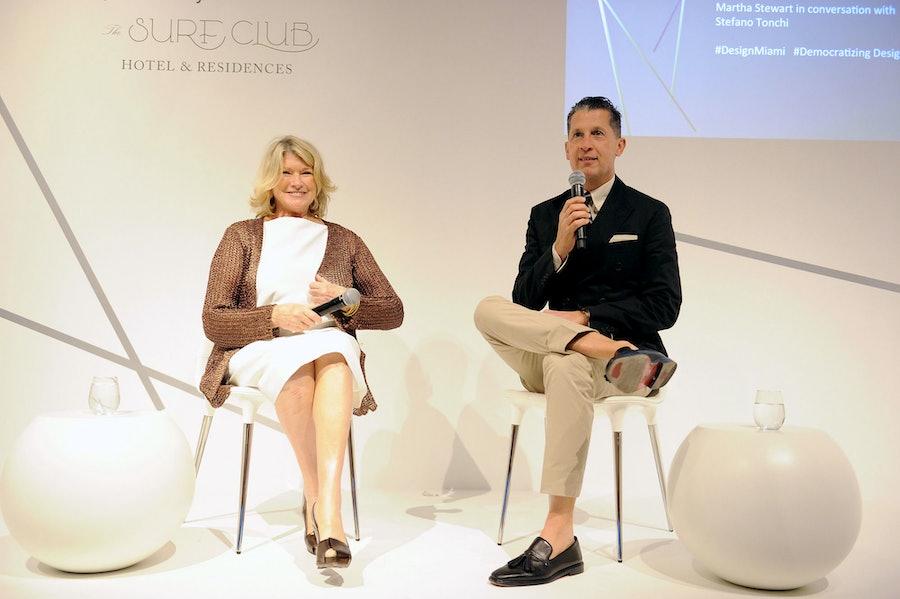 Martha Stewart and Stefano Tonchi. Photo by World Red Eye.