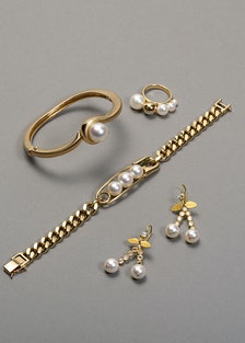Clockwise, from top left: Angela Cummings for Assael bangle; M/G Tasaki ring; Tasaki Collection by T...