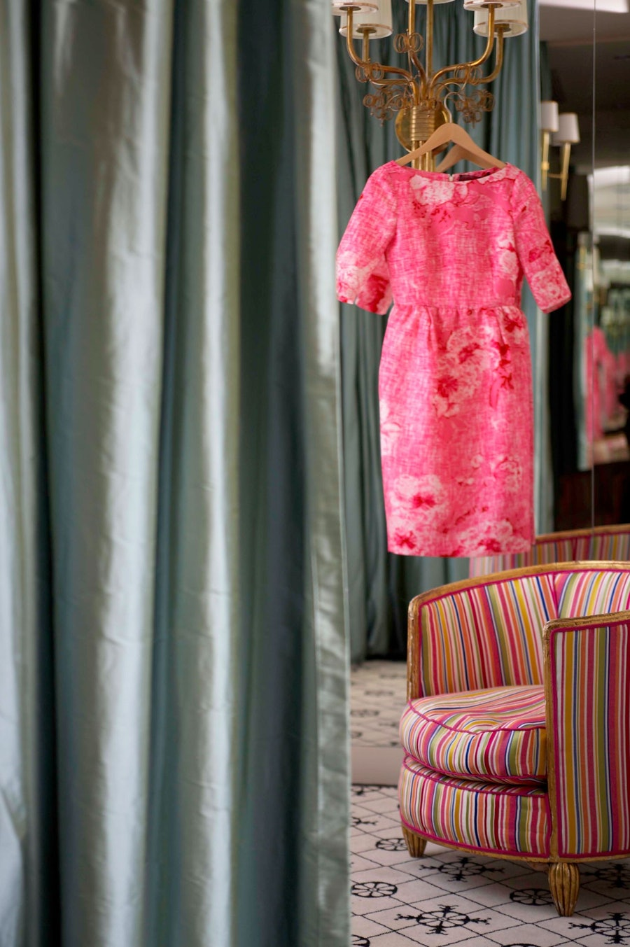 A dressing room in Laura Vinroot Poole's Charlotte store.