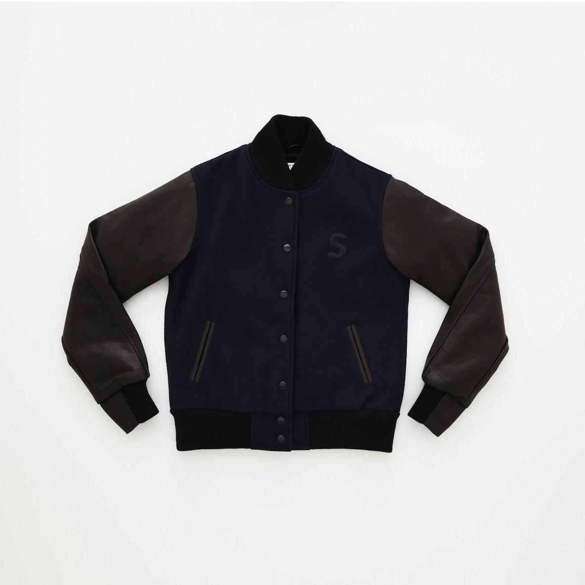 Shinola Varsity Jacket, $370, available in Shinola's Detroit and Tribeca stores.