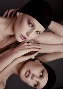 David Webb ring. Beauty note: A beautiful face is a reflection of healthy skin. Try Dior Capture Tot...