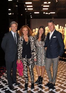 Michael Govan, Diane von Furstenberg, Katherine Ross, and Stefano Tonchi. Photo by Christina Edwards...