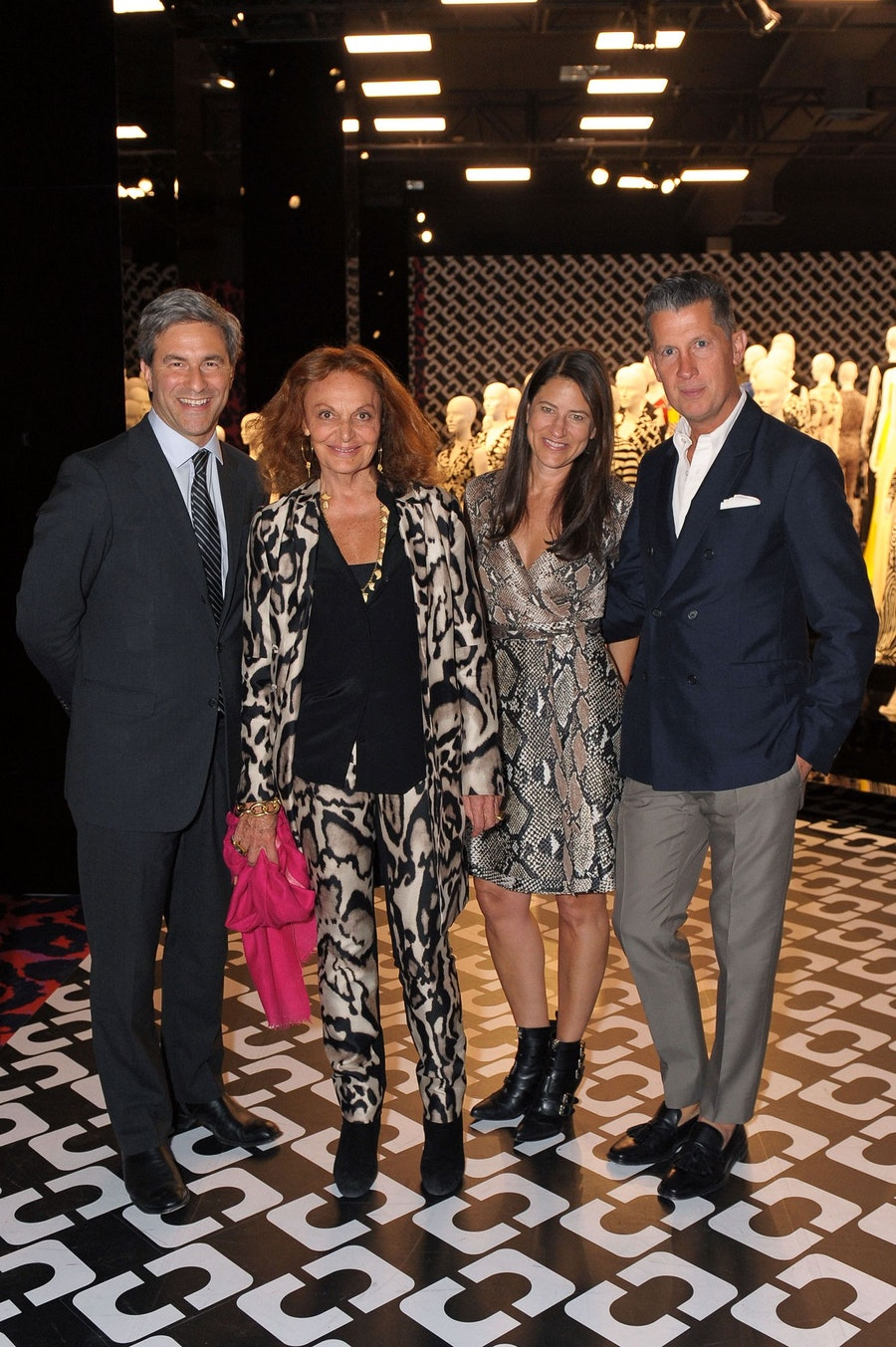 Michael Govan, Diane von Furstenberg, Katherine Ross, and Stefano Tonchi. Photo by Christina Edwards/ PatrickMcMullan.com.
