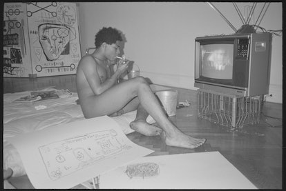 *Basquiat*, photographed by Paige Powell in her apartment, New York, 1983.