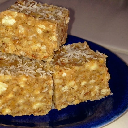 Janice Lipman's chocolate-date-coconut bars, [drfranklipman.com](http://www.drfranklipman.com/chocol...