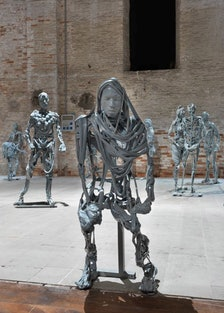 Exhibition view of Pawel Althamer's Venetians at the Venice Bienniale 2013. Courtesy of the artist.