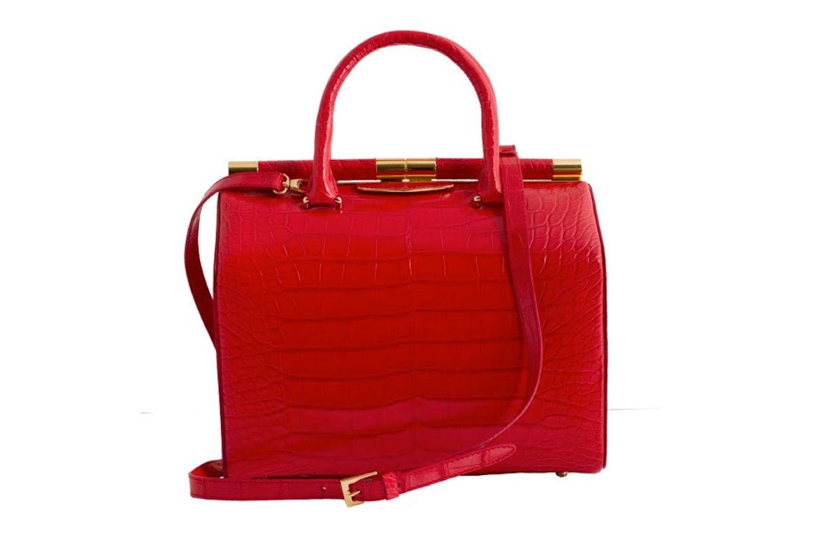 Tyler Alexandra Jamie large crocodile bag in red, $10500, [tyleralexandra.com](http://shop.tyleralexandra.com/collections/fall-winter-2013/jamie-large-crocodile-/56).