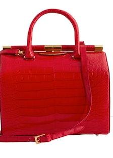 Tyler Alexandra Jamie large crocodile bag in red, $10500, [tyleralexandra.com](http://shop.tyleralex...