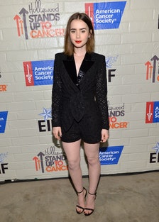 Lily Collins. Photo by Getty Images for Entertainment Industry Foundation.
