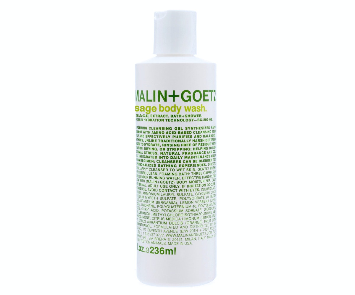 Malin + Goetz Sage Body Wash, $18, [malinandgoetz.com](http://www.malinandgoetz.com/body/sage-body-wash).