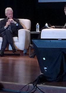 Bill Clinton at the Fragrance Foundation's Foundation Talk.