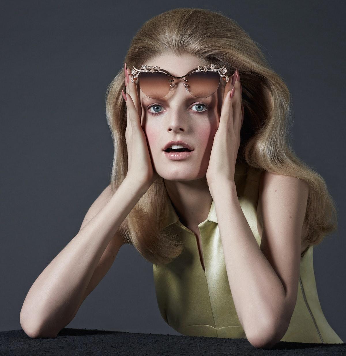 Bulgari sunglasses, $92,000, [bulgari.com](http://us.bulgari.com/); Rochas dress, $2,130, [rochas.co...
