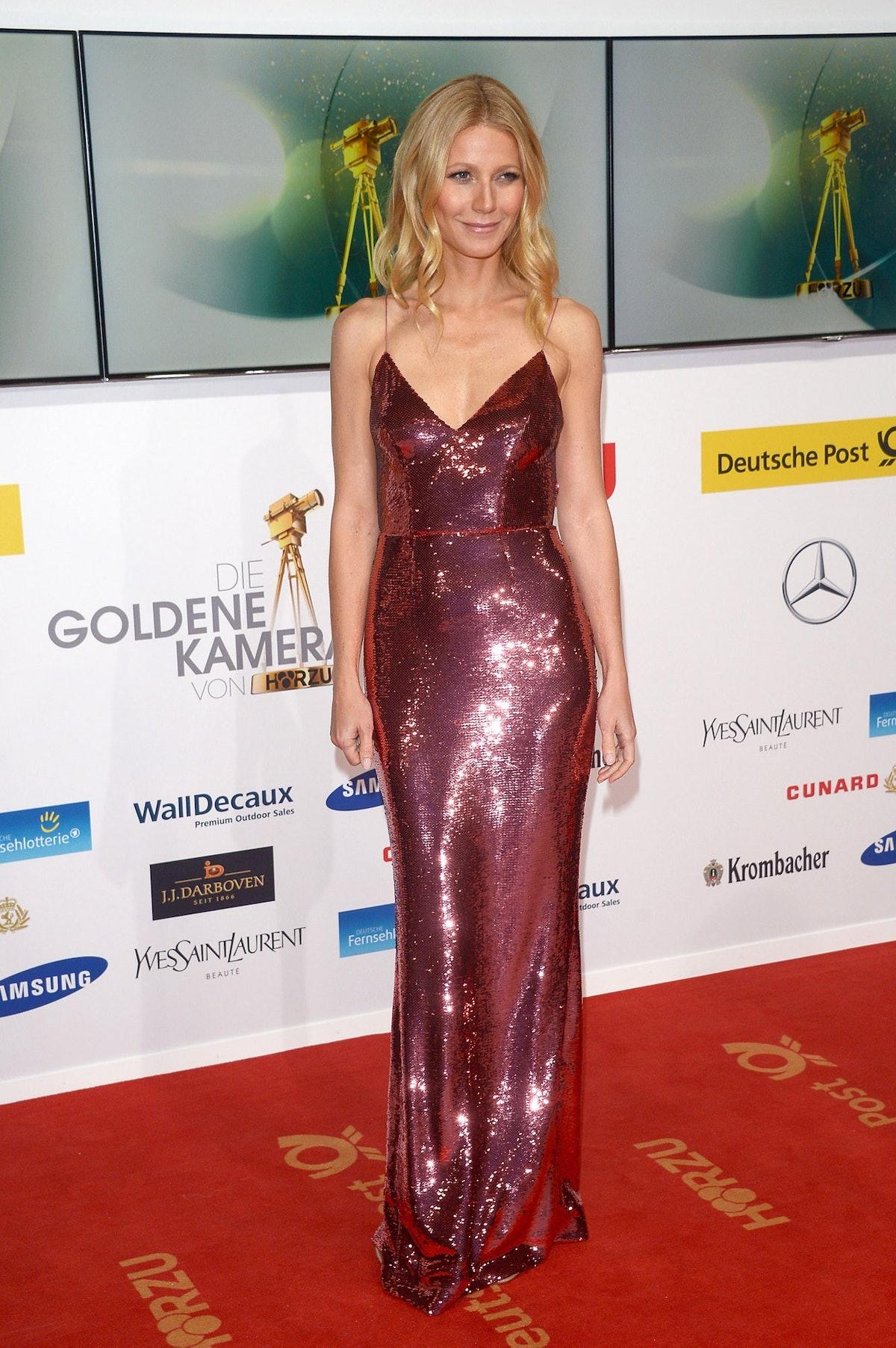 Gwyneth Paltrow in Prada. Photo courtesy of the brand.