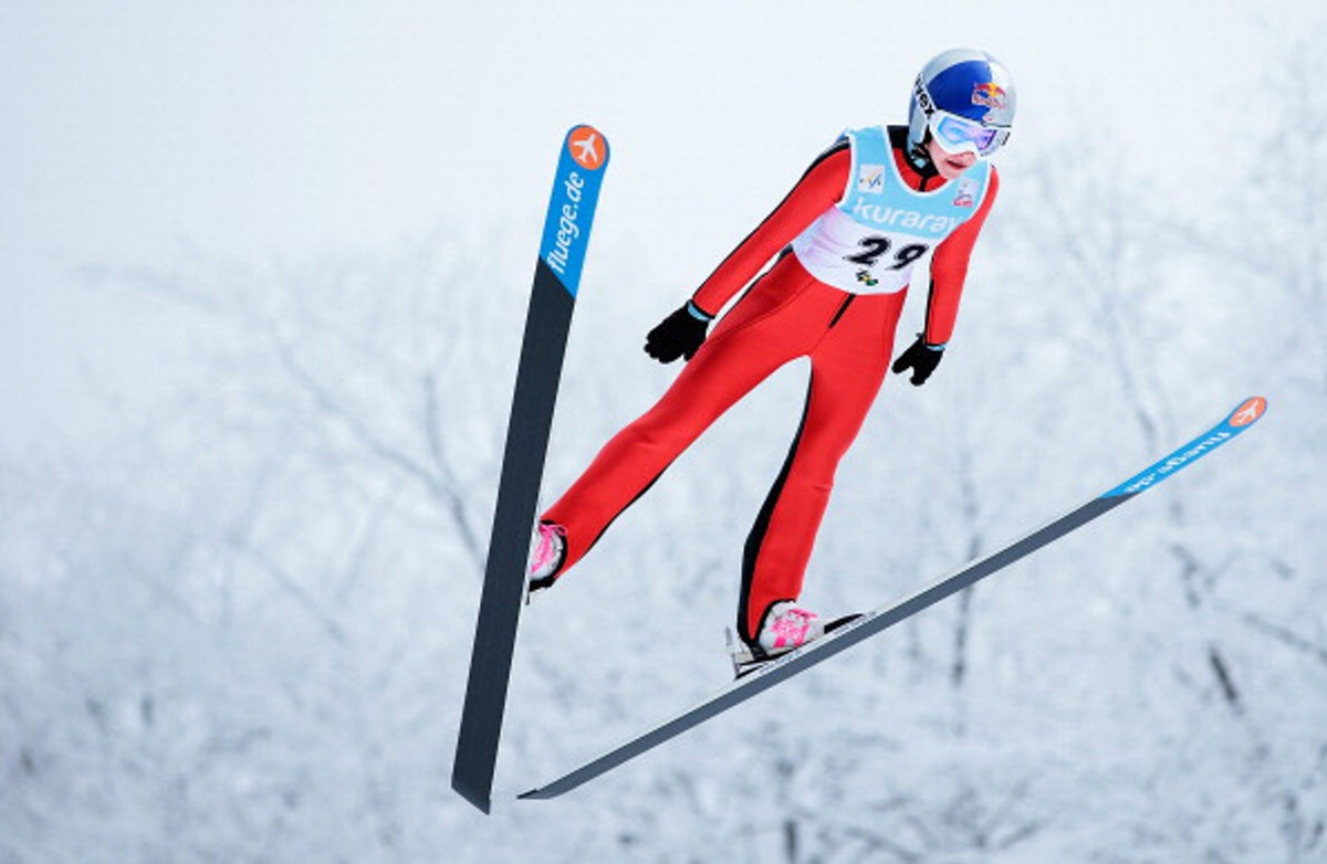 American Sarah Hendrickson, the 2013 world champion. Photograph by Getty.