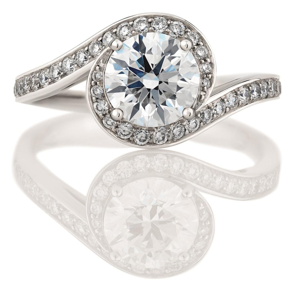 De Beers engagement ring.