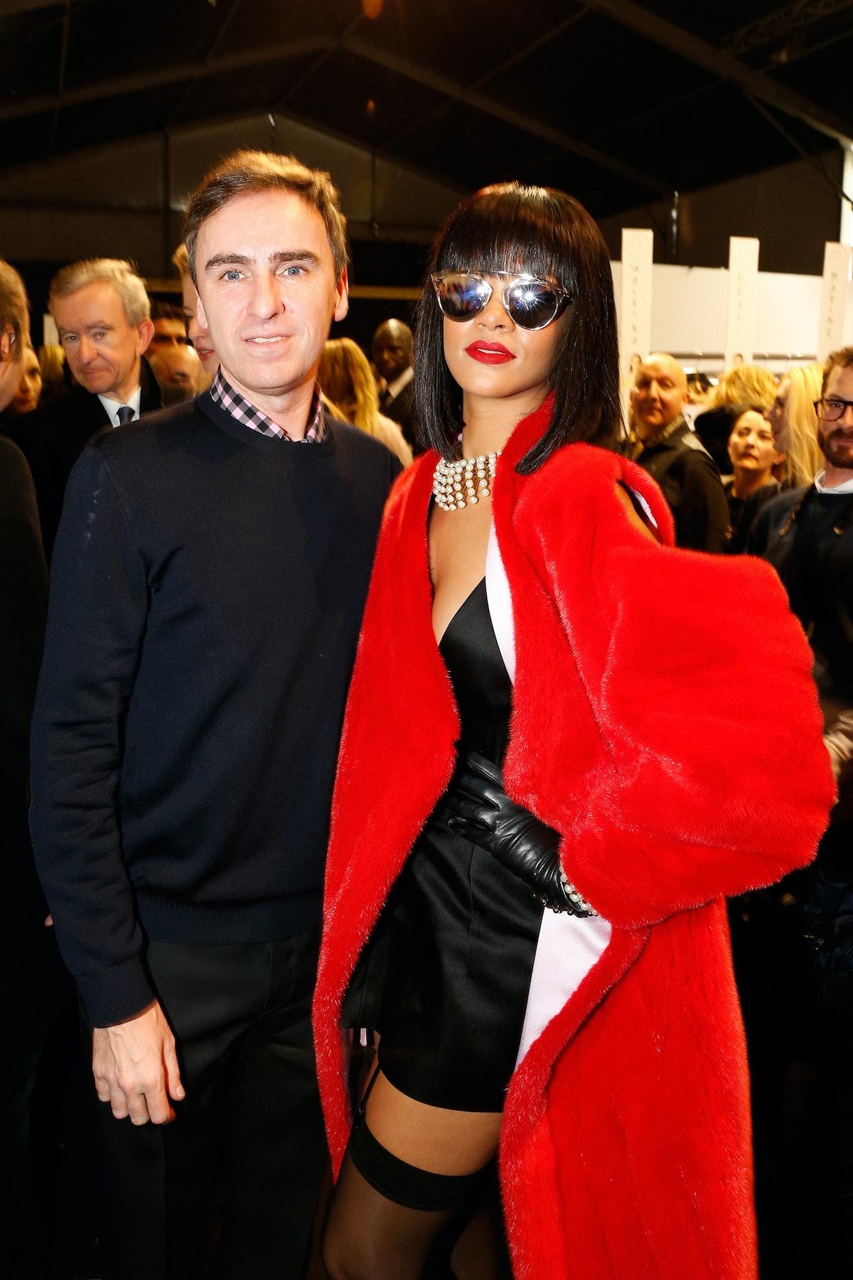 Raf Simons and Rihanna