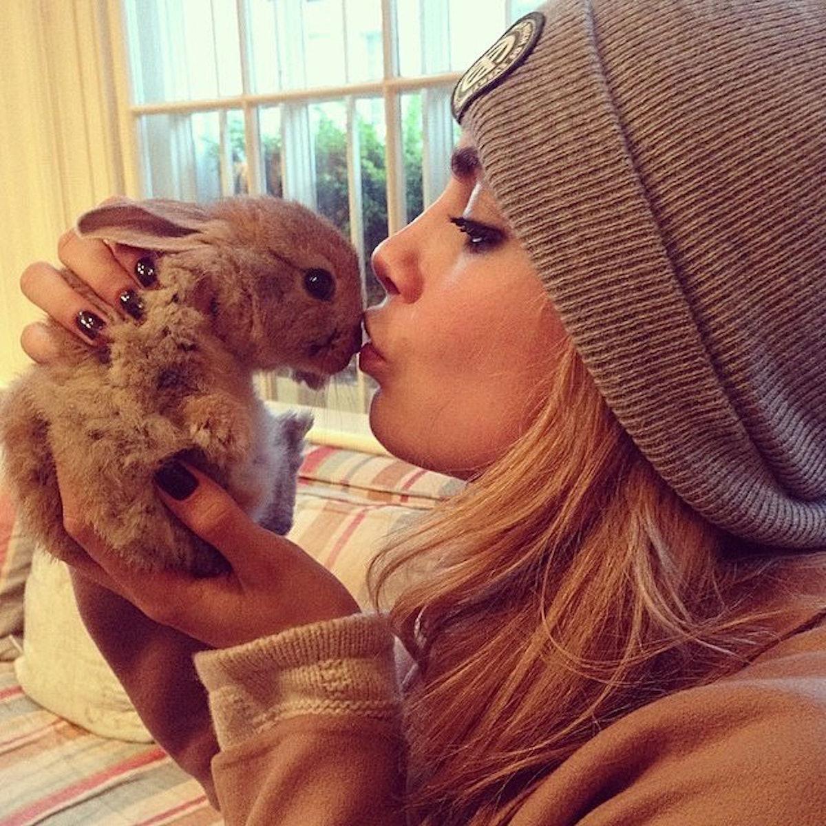 Cara Delevingne Bunny Rabbit